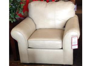 Salvador Blonde Leather Chair